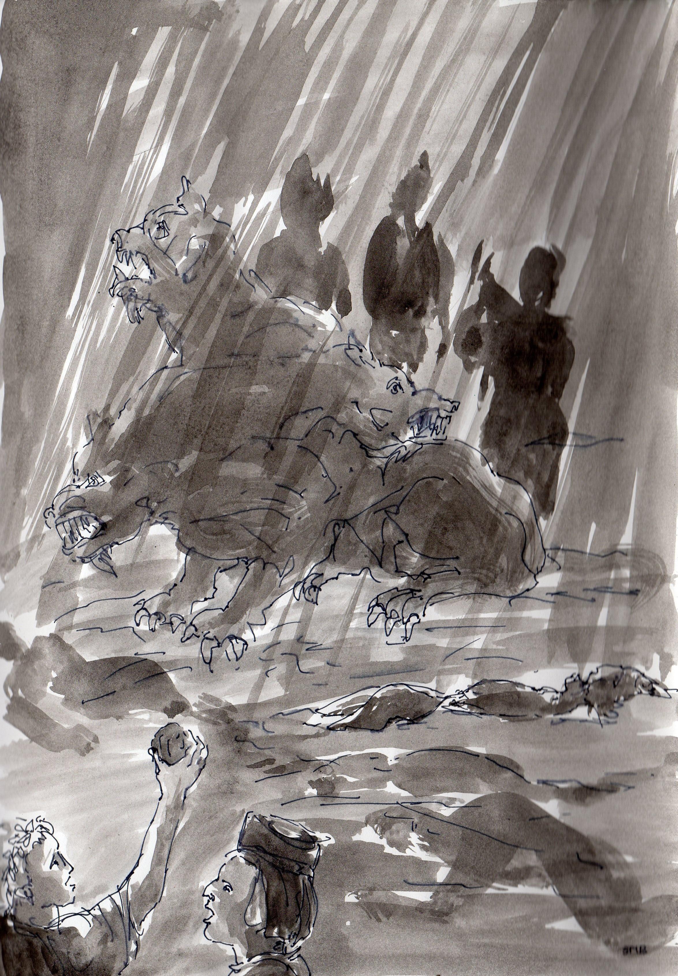 Enfer, La divine Comédie. Dante. Chant 6